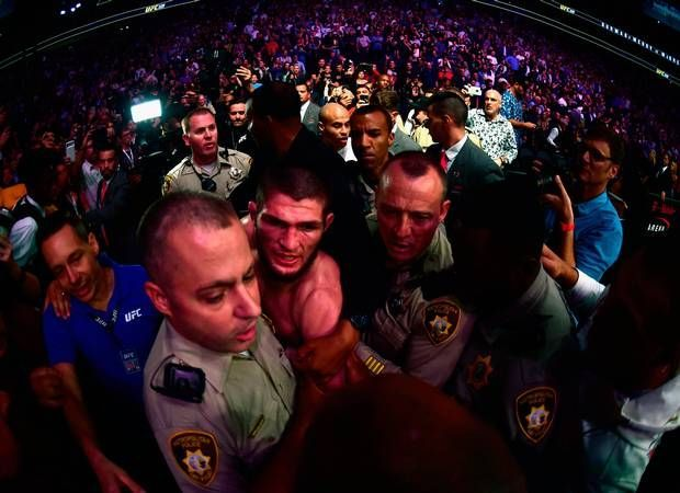 All hell broke loose in the aftermath of UFC 229