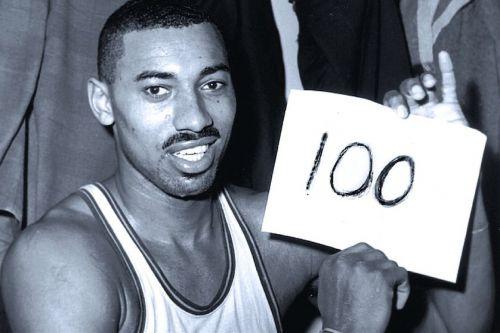 Wilt Chamberlain after scoring 100 points in an NBA game. Credit: Bleacher Report