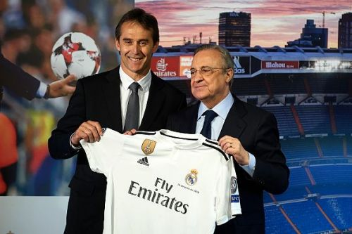 Julen Lopetegui's presentation as Madrid head coach, just four months