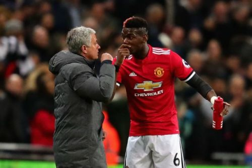 Image result for paul pogba and jose mourinho