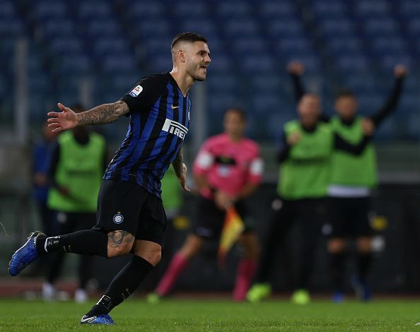 Icardi continued his goalscoring form with a brace against Lazio