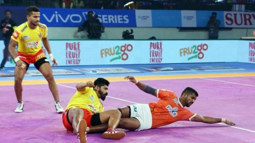GB More was the main raider for Puneri Paltan tonight