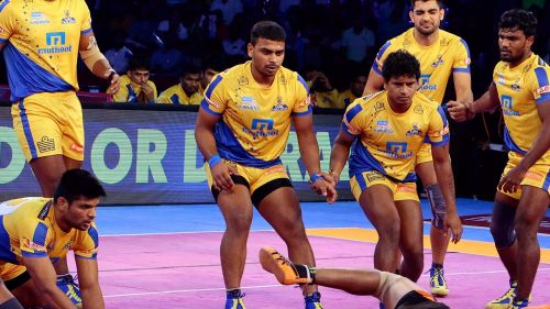 Darshan (C) will play a massive part in the Thalaivas' campaign