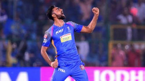 Image result for Jaydev Unadkat (Rajasthan Royals)