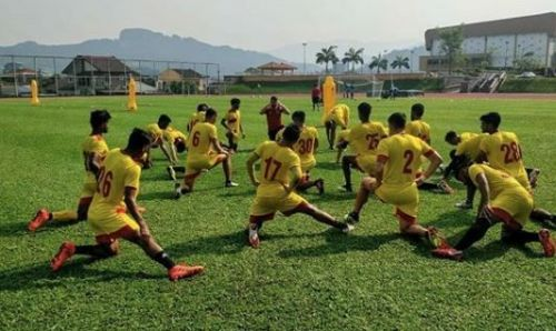 East Bengal players in a training session in Malaysia (Day 2)