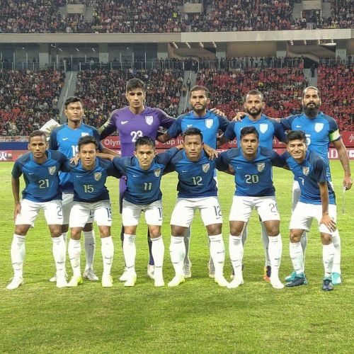The Indian team produced a strong performance against China (Image Courtesy: AIFF Media)