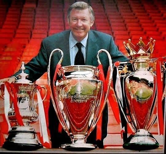Sir Alex Ferguson won the treble in 1999