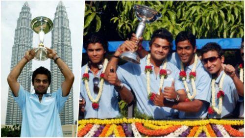 Virat Kohli with the ICC U-19 Cricket World Cup 2008 trophy