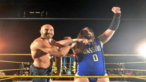 Cesaro returned to reunite with his old tag team partner Kassius Ohno
