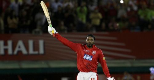 Gayle's 100 helped KXIP maintain a 100 percent record at Mohali