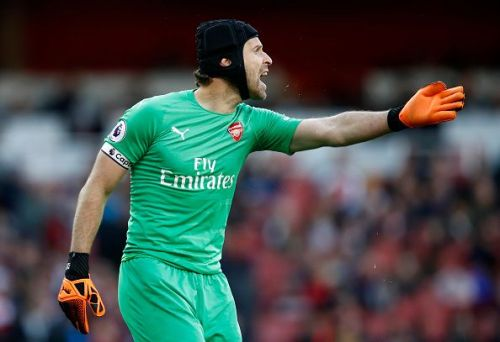 Petr Cech is yet to fully adapt to the new tactic of passing out from the back