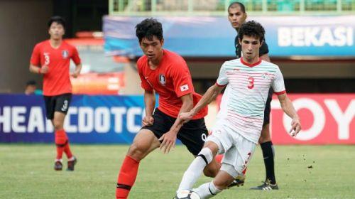 HanonovVahdat of Tajikistan in action against South Korea (Image Courtesy: AFC)