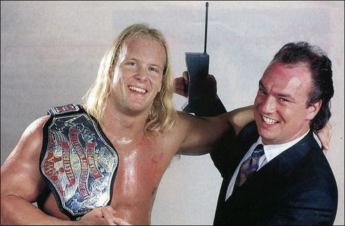 The wrestler on the left is Stone Cold