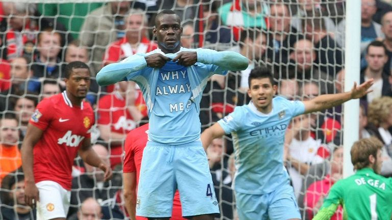 Mario Balotelli - Inspired City to an emphatic win in their neighbour