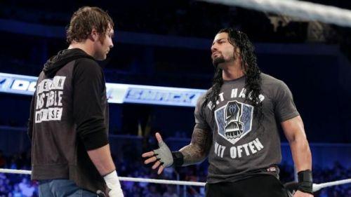 Ambrose confronts Reigns