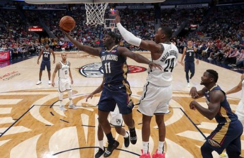 Holiday came up clutch as the Pelicans left it late to win 117-15 against the Brooklyn Nets