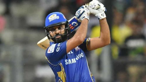 Rohit Sharma in action for Mumbai Indians
