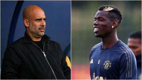 Pep Guardiola and Paul Pogba