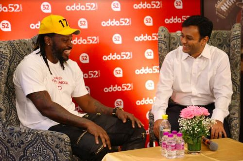 An interactive session with Chris Gayle, and Mohit Agarwal CEO and Co-Founder of Adda52.com
