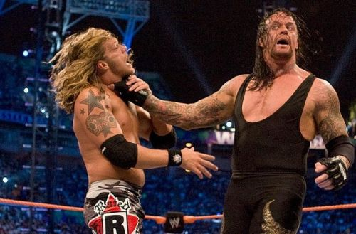 Edge had a marquee feud with the Undertaker in 2008 in the blue brand.