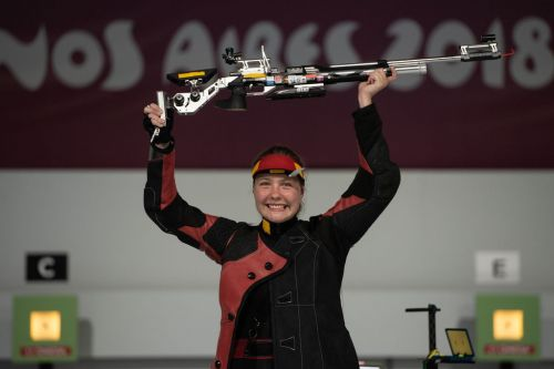 Gold medalist Stephanie Laura Scurrah Grundsoee from Denmark (Image Courtesy: IOC)