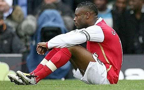 William Gallas stages his protest at Birmingham