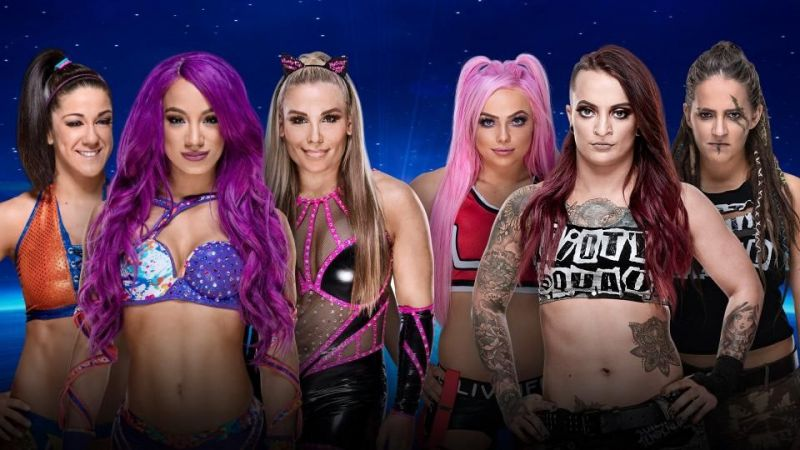 Bayley, Sasha Banks and Natalya vs. the Riott Squad