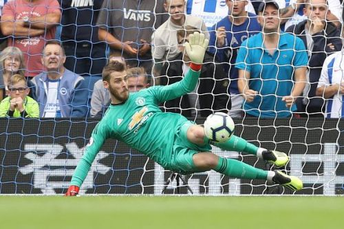 De Gea in action for Manchester United