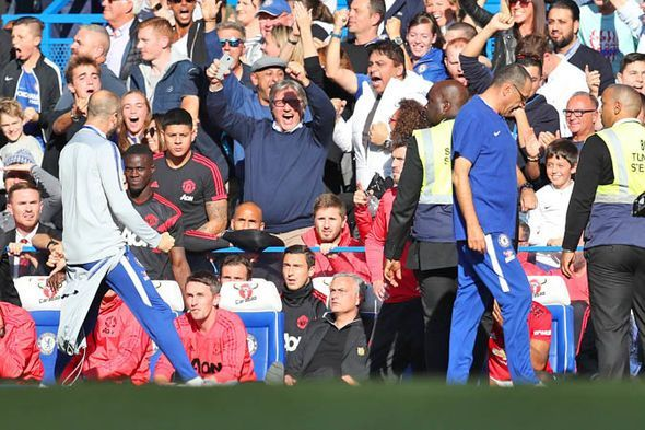 Chelsea assistant Marco Iaani taunted Mourinho after Barkley's late equaliser