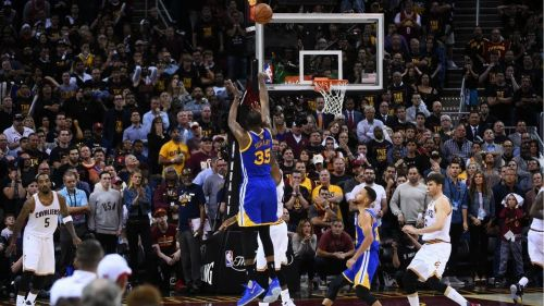 Kevin Durant's iconic 3-pointer in game 3 of the 2017 NBA Finals