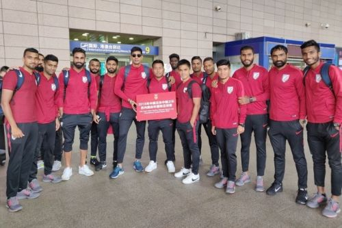 The Indian national football team in China (Image: AIFF Media)