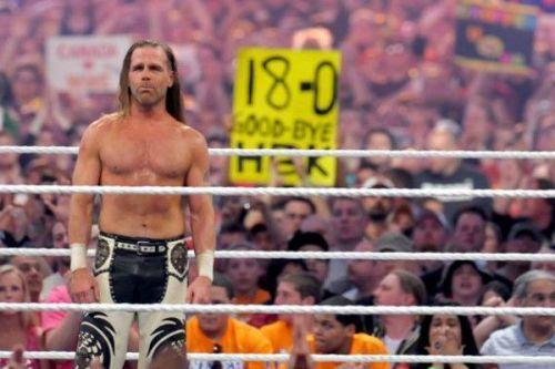 Shawn Michaels bidding adieu to his fans