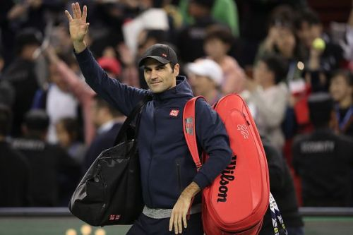 Federer is currently competing at the ATP Shanghai Masters