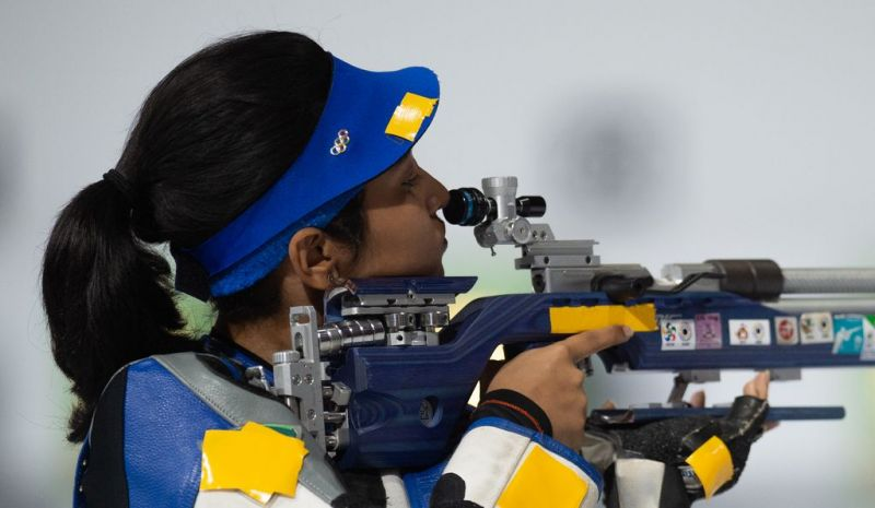 Silver medalist Mehuli Ghosh from India (Image Courtesy: IOC)