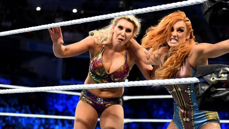 Charlotte and Becky were evenly matched in this title bout