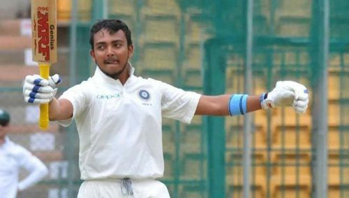 Prithvi Shaw was impressive on his debut