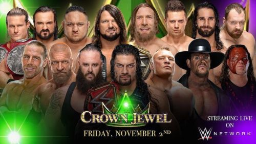 WWE Crown Jewel is scheduled to air November 2 on the WWE Network.
