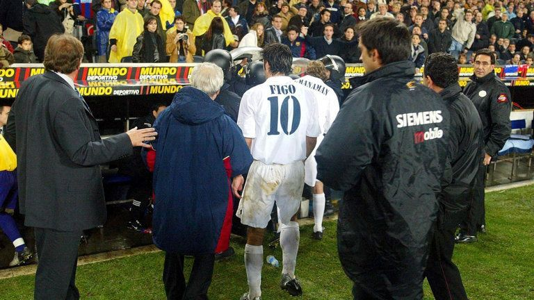 Figo after the Clasico in 2000