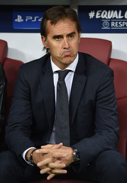 Lopetegui during Madrid's UCL match against CSKA Moskow