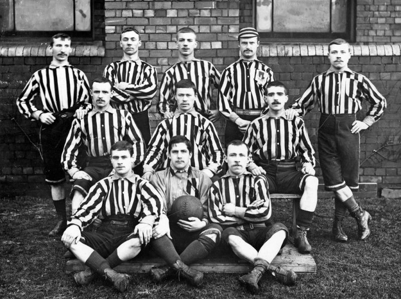 Wolverhampton Wanderers has formed 141 years ago. This is a picture from their initial days.