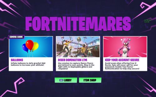 Fortnitemare challenges and event.