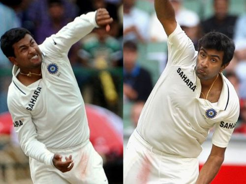 Ojha and Ashwin - The latest success against the West Indies