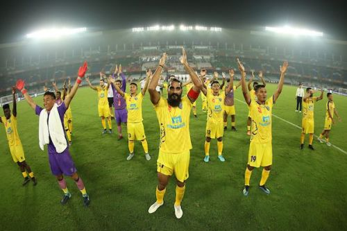 Kerala Blasters are coming home after a 2-0 victory over ATK