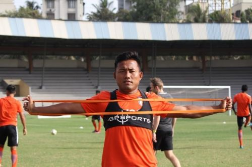 Indian national football team striker Jeje Lalpekhlua at a training session (Image: AIFF Media)
