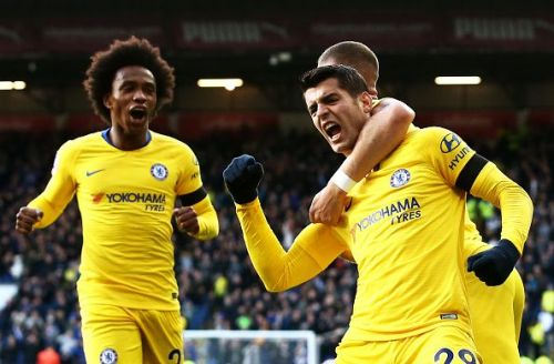 Chelsea took the lead soon after some sustained pressure from Burnley