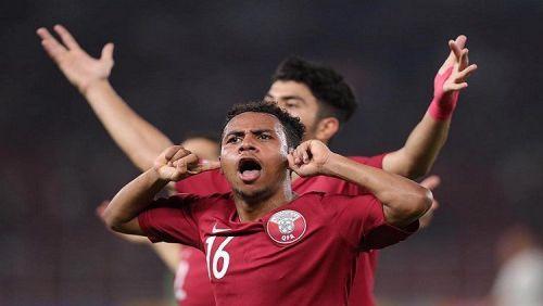 Hashim Ali of Qatar scored a brace against Taipei (Image courtesy: Indosport)