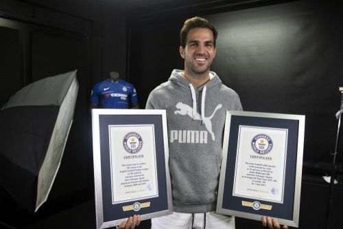Cesc Fabregas is the proud owner of not one but two Guinness World Records