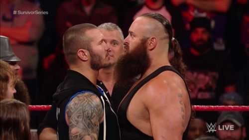 Randy Orton goes face to face with Bruan Strowman