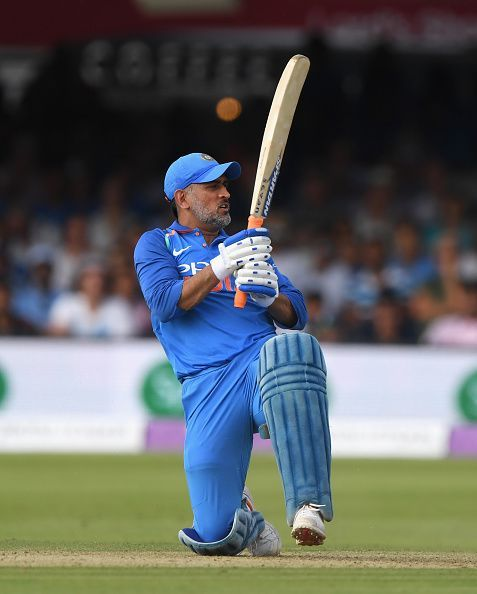 MSD played a scratchy innings against Windies in Antigua