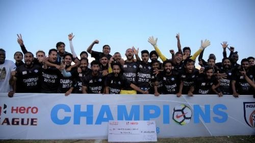 Clubs like Minerva Punjab (in pic) and Aizawl FC have won the I-League in recent years